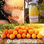 Fruchtig- herber Orangensirup