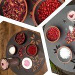 Rosenblüten - Salz mit rosa Pfefferbeeren