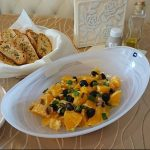 In Salata di arancie siciliane (Orangensalat)