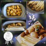 Spargel und Kartoffeln im Ofenmeister